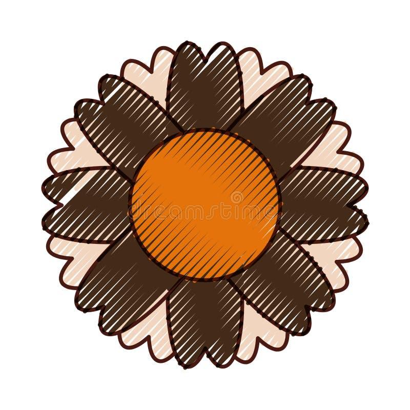Icono aislado flor linda libre illustration