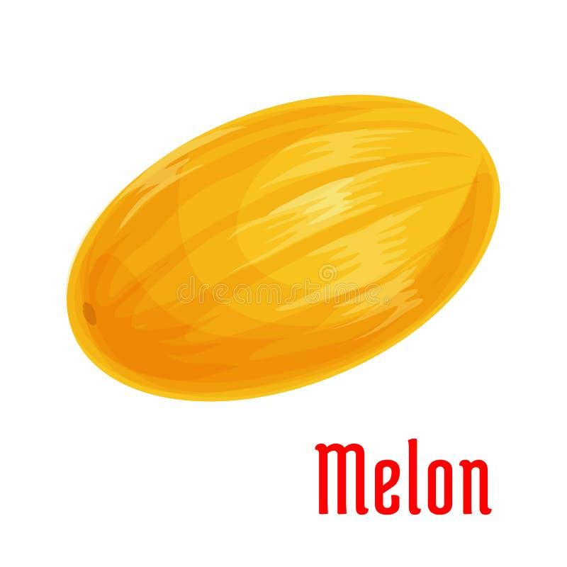 Icono aislado fruta del melón para el diseño de la comida stock de ilustración