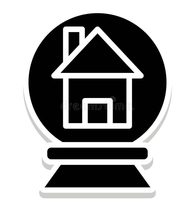 Icono aislado globo del vector de la nieve que puede ser modificado o corregir fácilmente en cualquier icono aislado globo del ve libre illustration