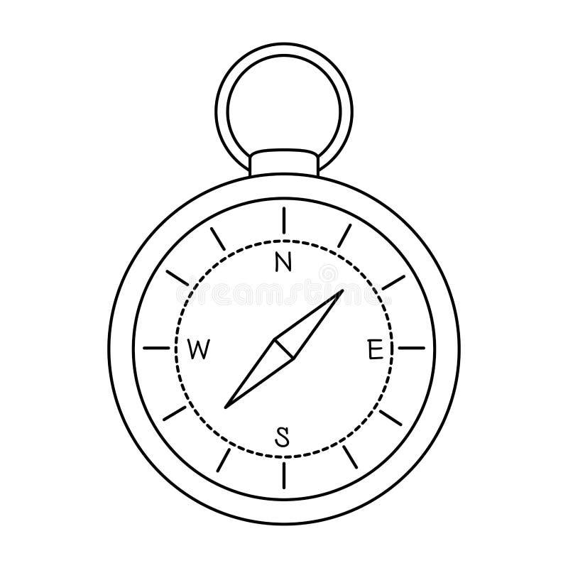 Icono aislado guía del compás ilustración del vector
