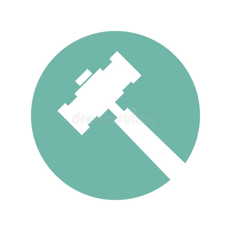 Icono aislado herramienta del martillo libre illustration