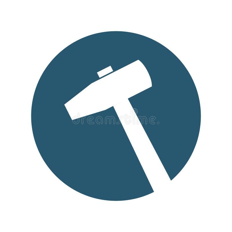 Icono aislado herramienta del martillo stock de ilustración