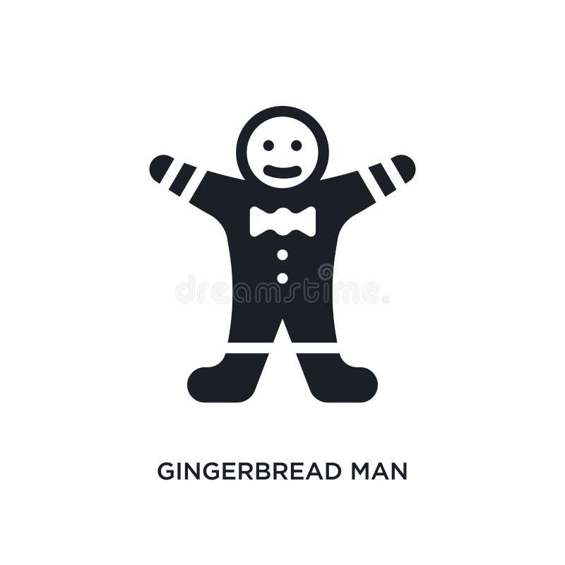 icono aislado hombre de pan de jengibre ejemplo simple del elemento de iconos del concepto del invierno símbolo editable de la mu ilustración del vector