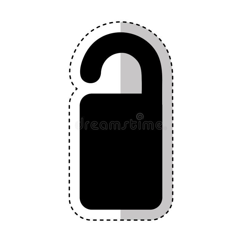 Icono aislado hotel de la etiqueta libre illustration