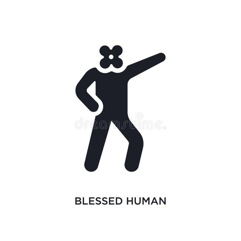 icono aislado humano bendecido ejemplo simple del elemento de iconos del concepto de las sensaciones símbolo editable humano bend stock de ilustración