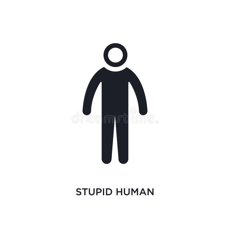 icono aislado humano estúpido ejemplo simple del elemento de iconos del concepto de las sensaciones diseño editable humano estúpi stock de ilustración