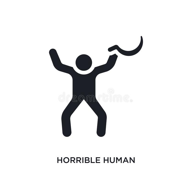 icono aislado humano horrible ejemplo simple del elemento de iconos del concepto de las sensaciones símbolo editable humano horri libre illustration
