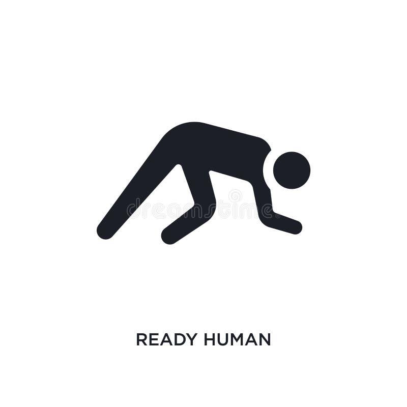 icono aislado humano listo ejemplo simple del elemento de iconos del concepto de las sensaciones diseño editable humano listo del ilustración del vector