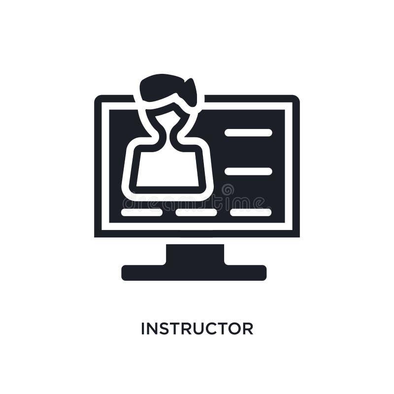 icono aislado instructor ejemplo simple del elemento de iconos del concepto del aprendizaje electrónico y de la educación muestra stock de ilustración