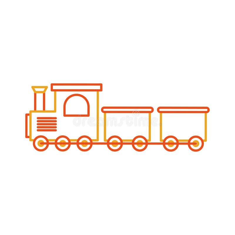 icono aislado juguete del tren stock de ilustración