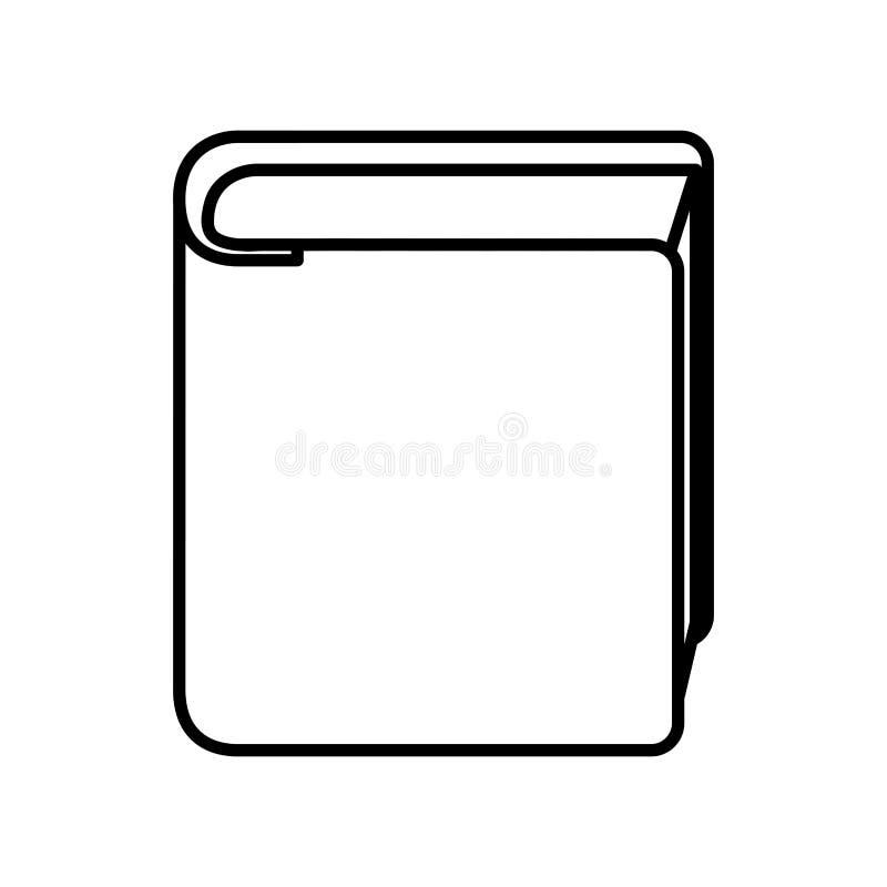 Icono aislado libro de la biblioteca stock de ilustración