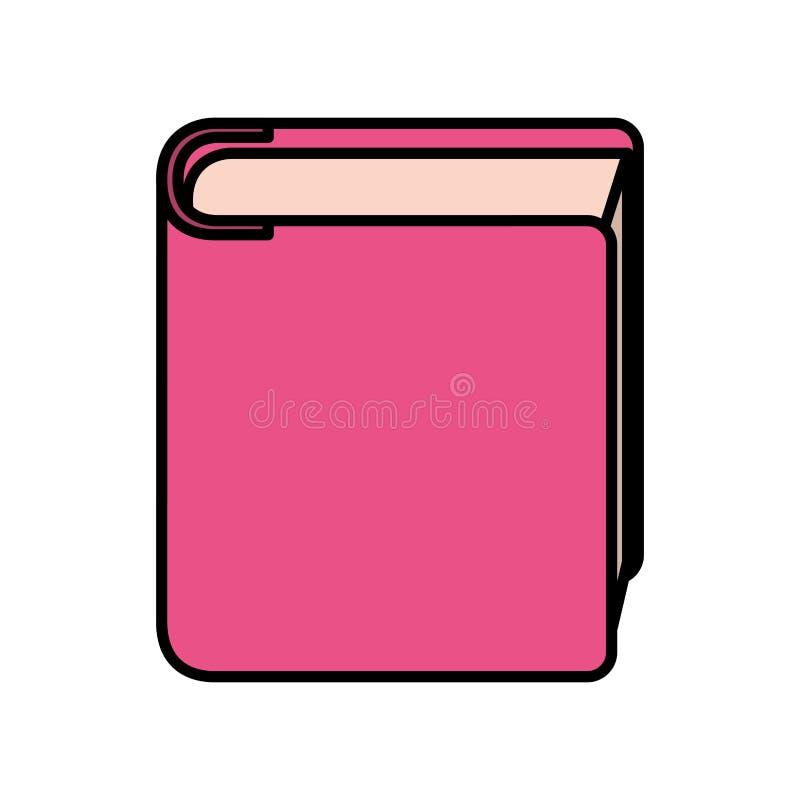 Icono aislado libro de la biblioteca ilustración del vector