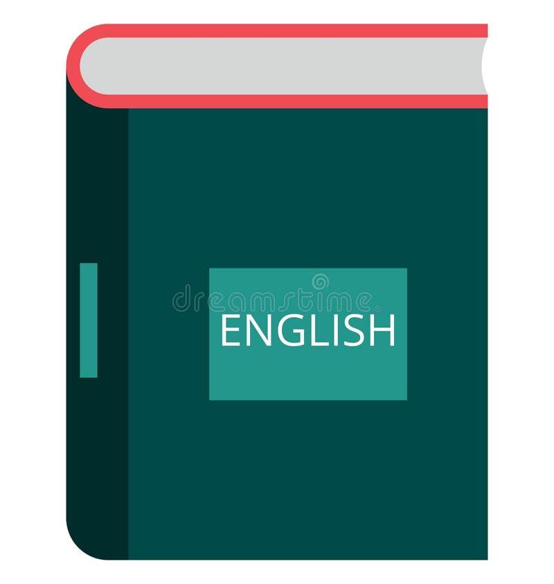 Icono aislado libro inglés del vector del color imagen de archivo libre de regalías