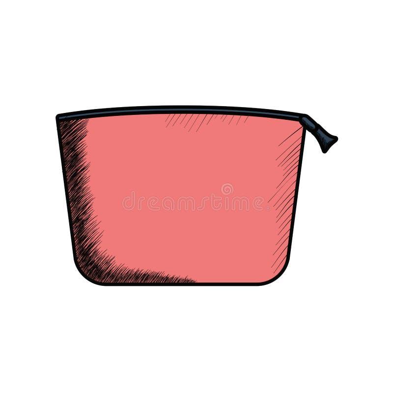 Icono aislado manija del cartucho del maquillaje ilustración del vector