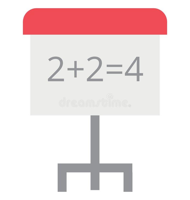 Icono aislado matemáticas del vector del color de la escuela del juego fotos de archivo libres de regalías