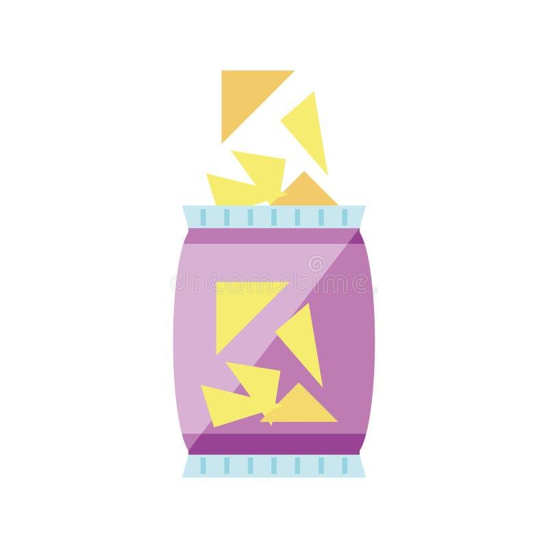 Icono aislado microprocesadores del bocado libre illustration