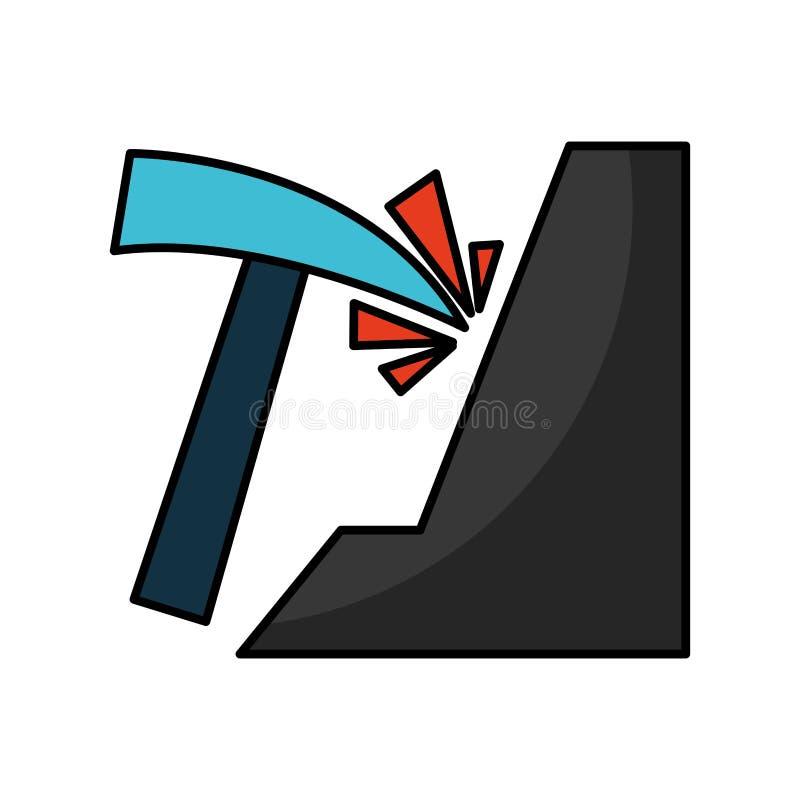 Icono aislado mina de la selección ilustración del vector