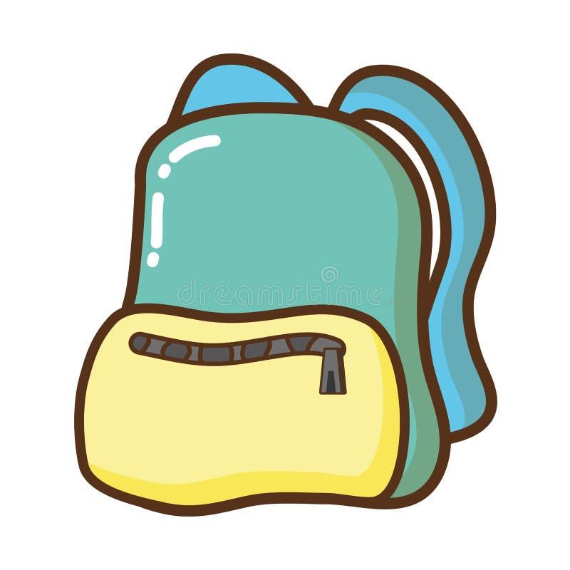 Icono aislado mochila del viaje libre illustration