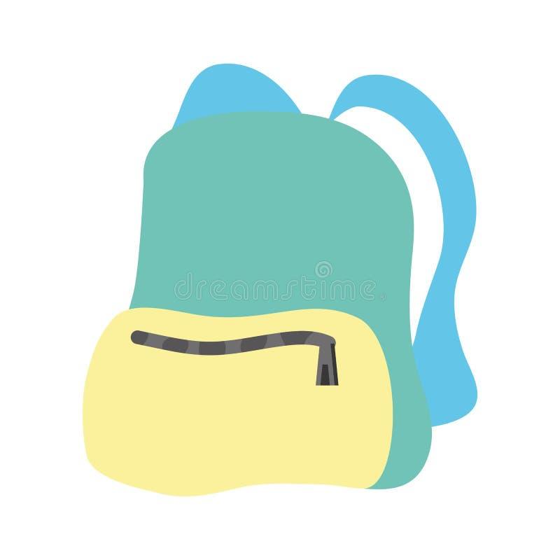 Icono aislado mochila del viaje stock de ilustración