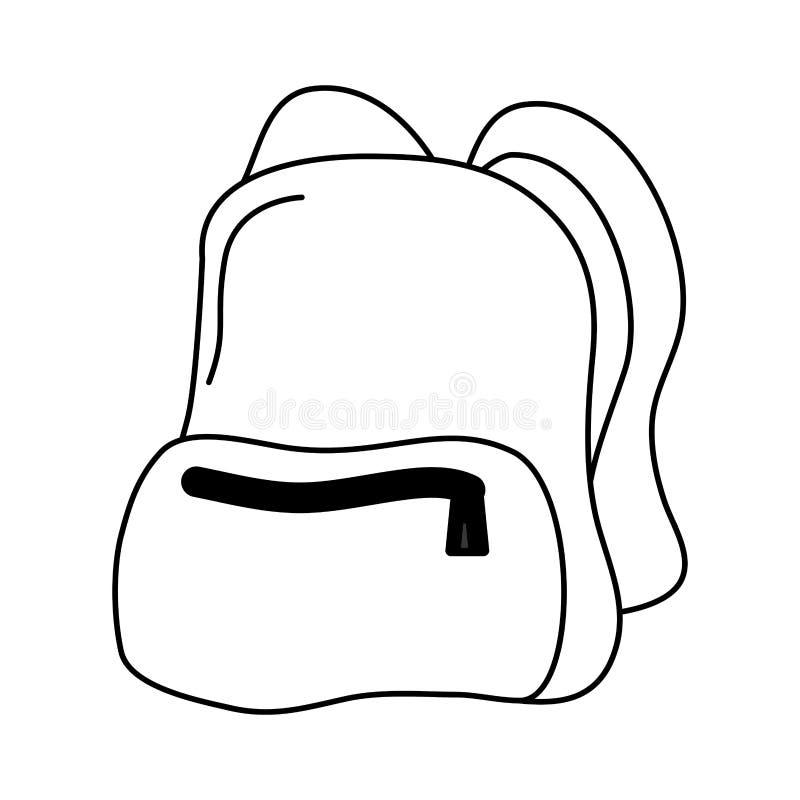 Icono aislado mochila del viaje ilustración del vector