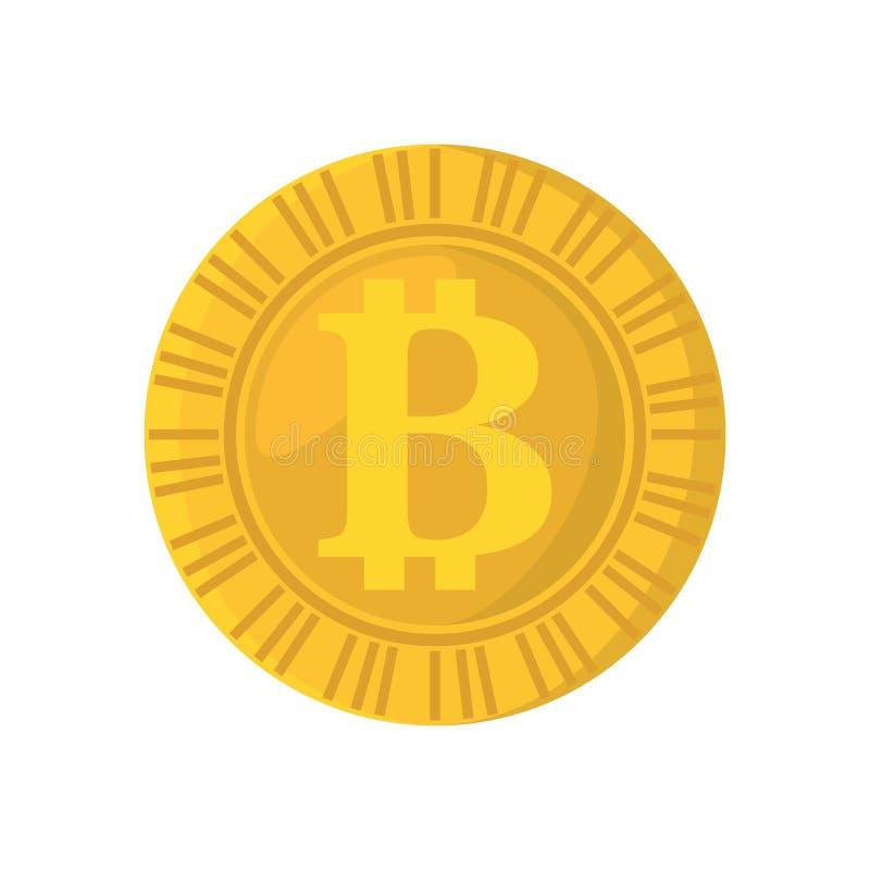 Icono aislado moneda del pedazo stock de ilustración