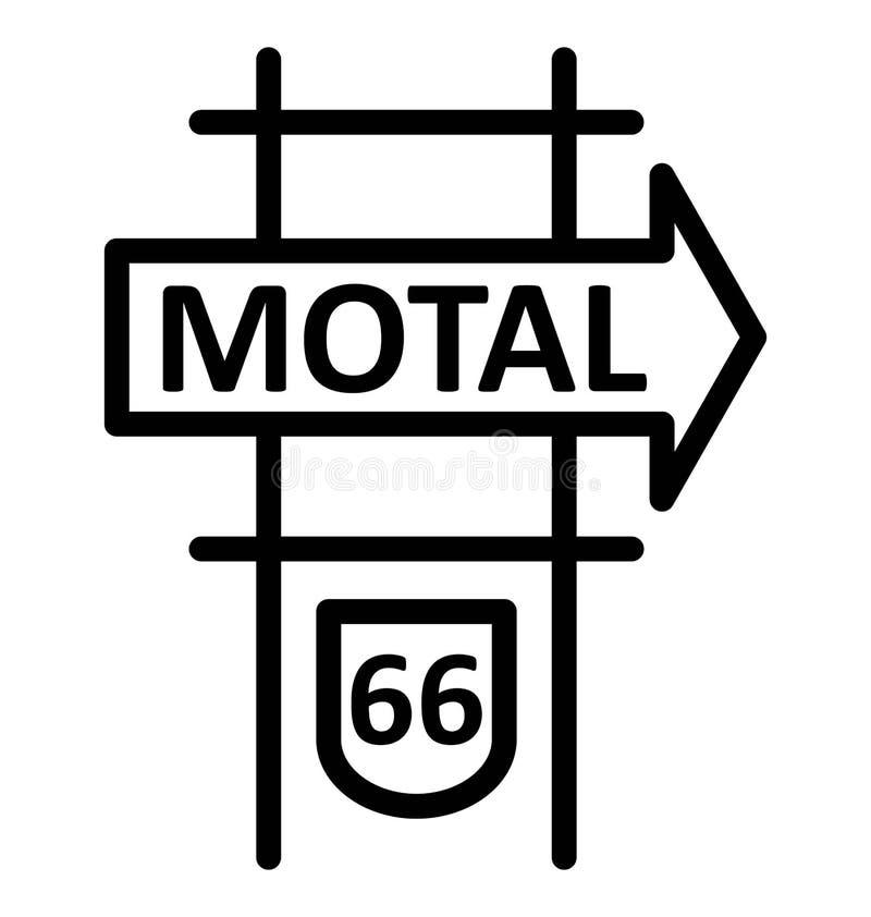 Icono aislado muestra del vector del motel ilustración del vector