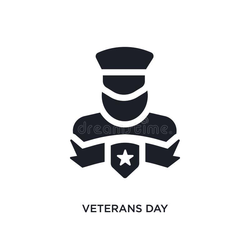 icono aislado negro del vector del día de veteranos ejemplo simple del elemento de iconos del vector del concepto de los Estados  libre illustration