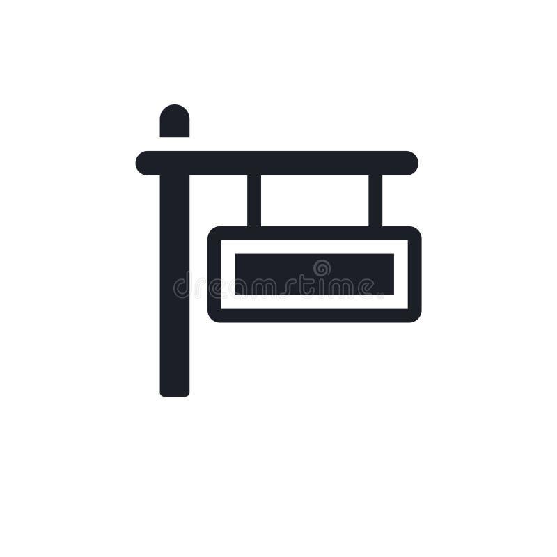 Icono aislado negro del vector ejemplo simple del elemento de iconos del vector del concepto del viaje diseño editable del símbol libre illustration