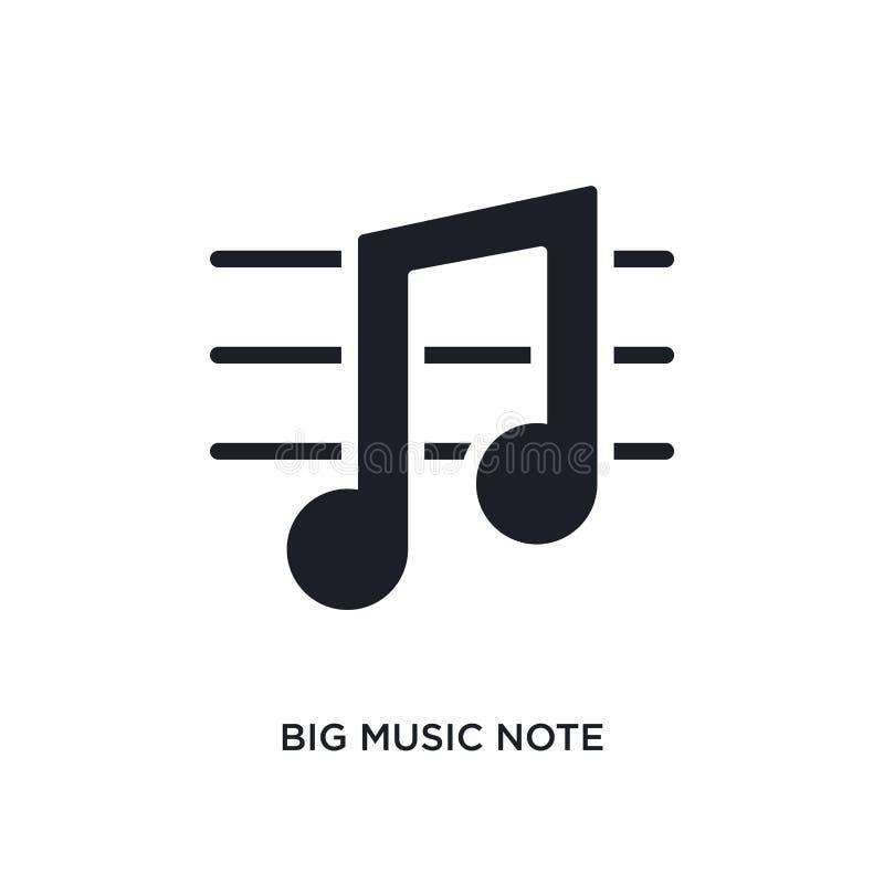 icono aislado nota grande de la música ejemplo simple del elemento de últimos iconos del concepto de los glyphicons logotipo edit stock de ilustración