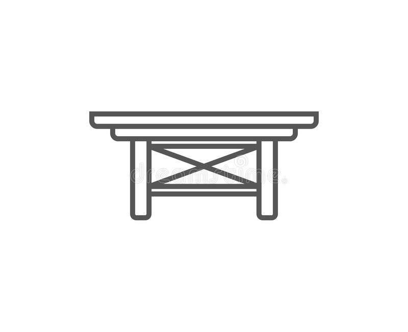 Icono aislado pequeña tabla en estilo linear ilustración del vector