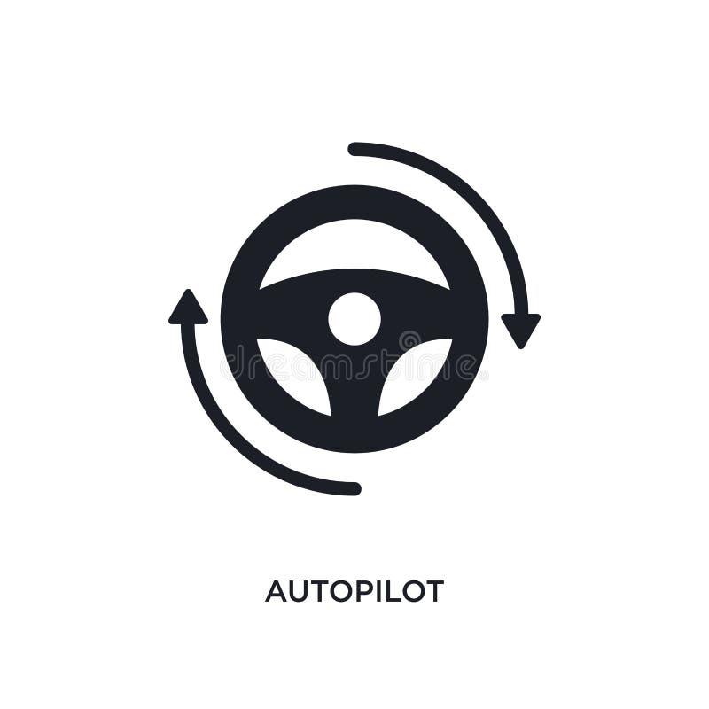 icono aislado piloto automático ejemplo simple del elemento de iconos del concepto general-1 diseño editable del símbolo de la mu stock de ilustración