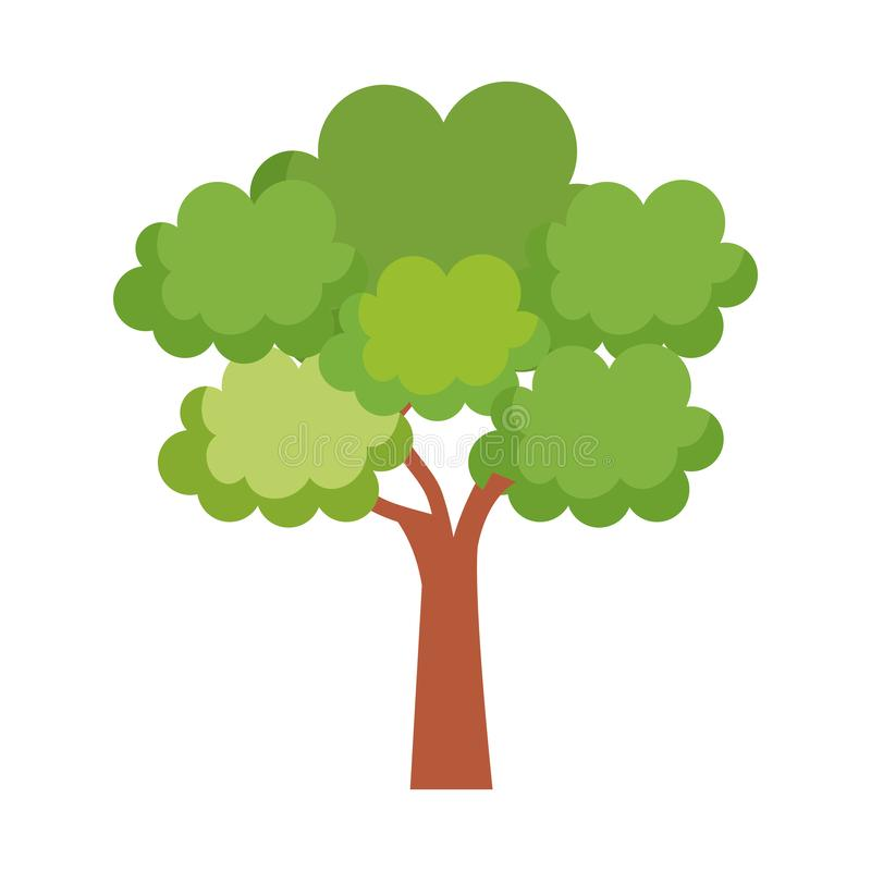Icono aislado planta del árbol stock de ilustración