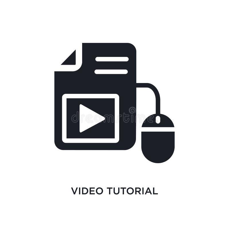 icono aislado preceptoral video ejemplo simple del elemento de iconos del concepto del aprendizaje electrónico símbolo editable p ilustración del vector