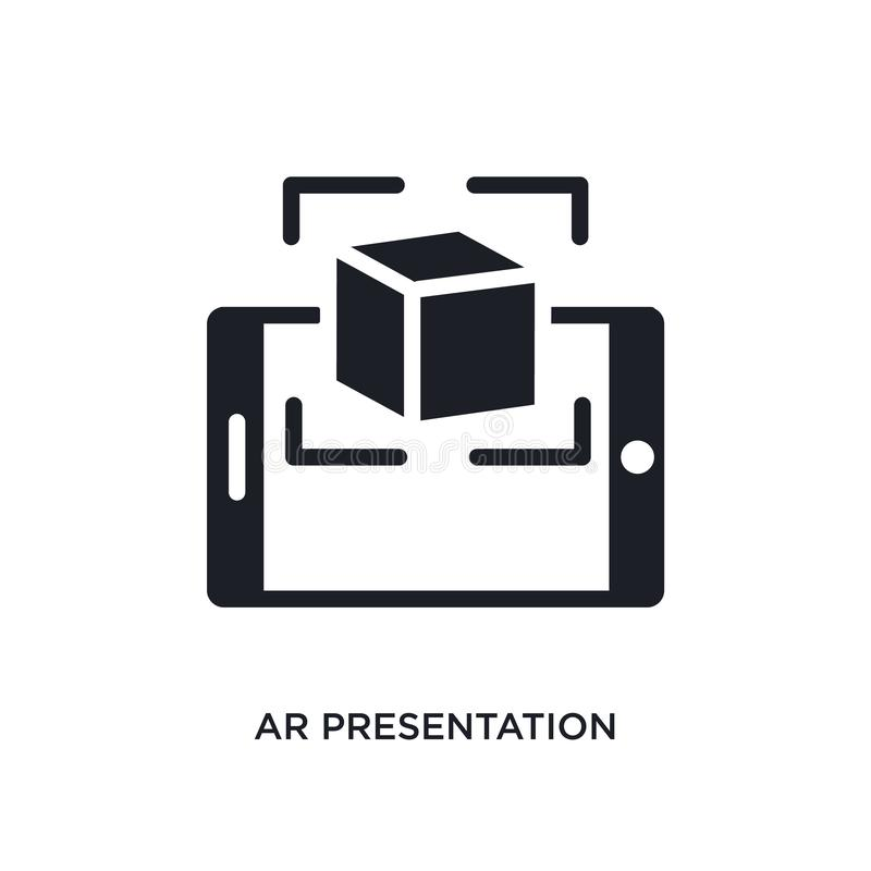 icono aislado presentación de AR ejemplo simple del elemento de iconos del concepto general-1 símbolo editable de la muestra del  stock de ilustración