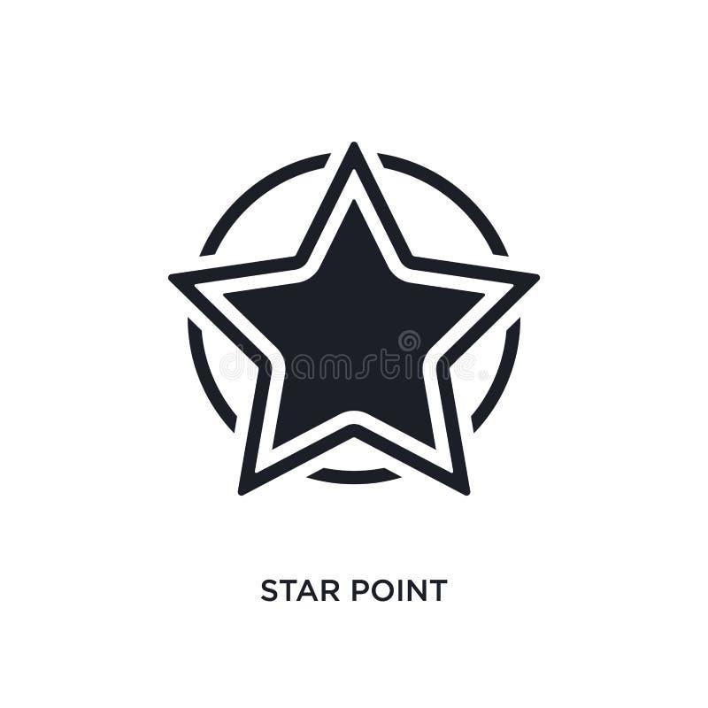 icono aislado punto de la estrella ejemplo simple del elemento de últimos iconos del concepto de los glyphicons símbolo editable  libre illustration
