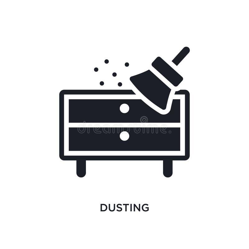 icono aislado que saca el polvo ejemplo simple del elemento de iconos de limpieza del concepto diseño editable del símbolo de la  stock de ilustración