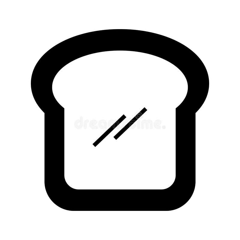 Icono aislado rebanada deliciosa del pan libre illustration