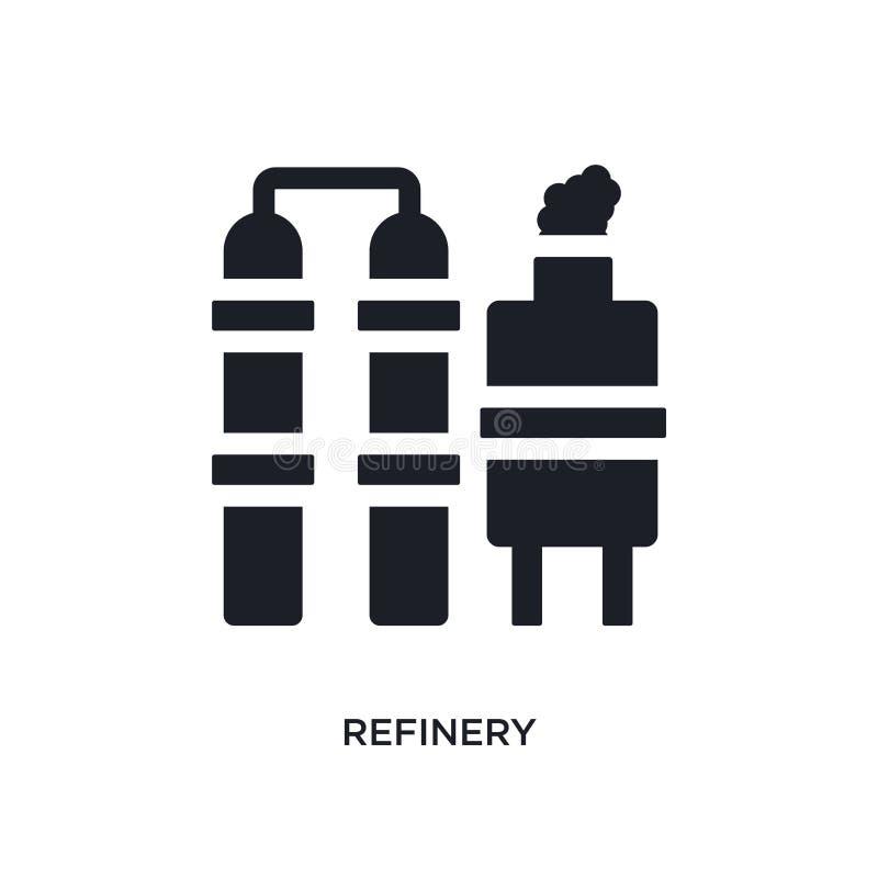 icono aislado refinería negra del vector ejemplo simple del elemento de iconos del vector del concepto de la industria símbolo ed ilustración del vector