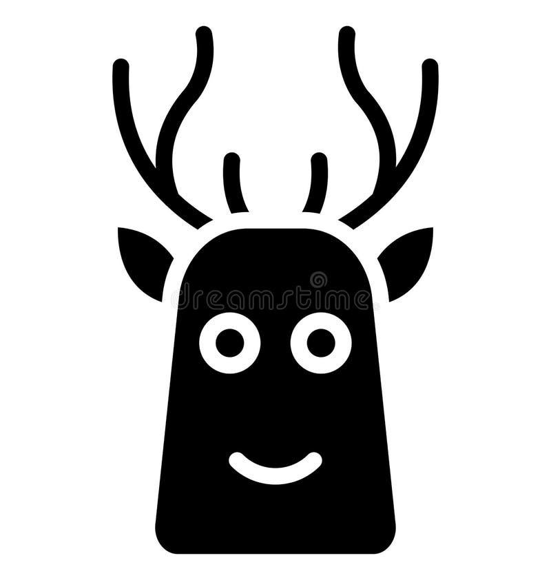 Icono aislado reno del vector que puede ser modificado o corregir fácilmente en cualquier icono aislado reno del vector del estil stock de ilustración