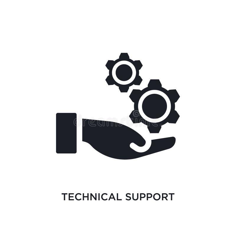 icono aislado soporte técnico negro del vector ejemplo simple del elemento de iconos grandes del vector del concepto de los datos libre illustration