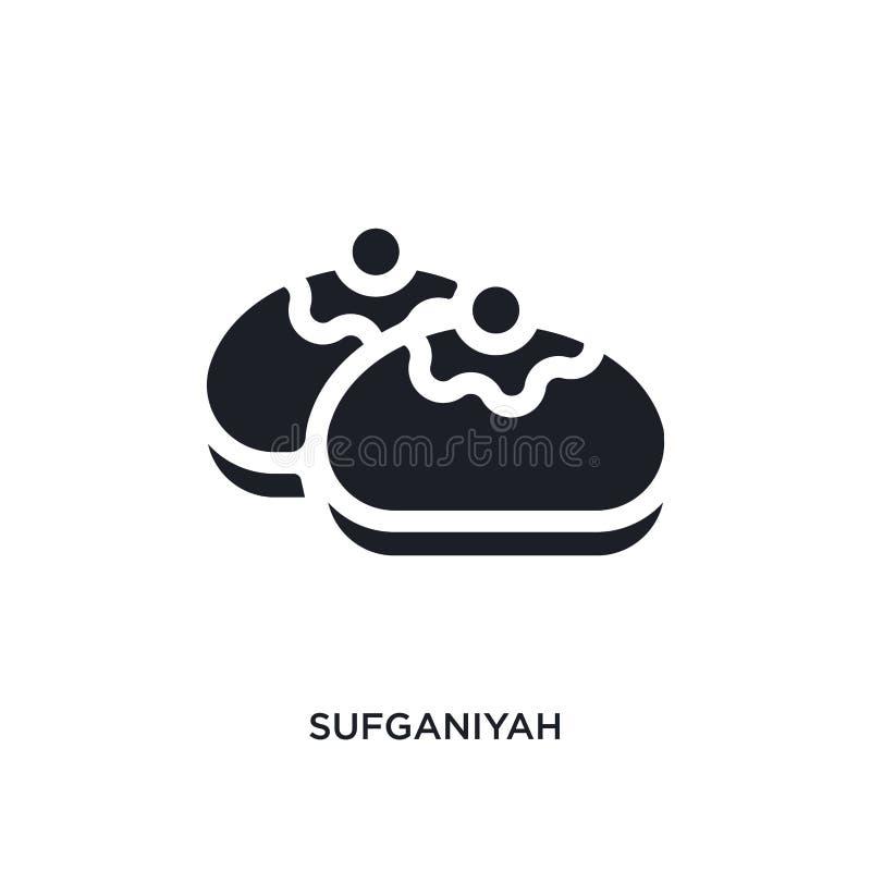 icono aislado sufganiyah negro del vector ejemplo simple del elemento de iconos del vector del concepto de la religi?n logotipo e ilustración del vector