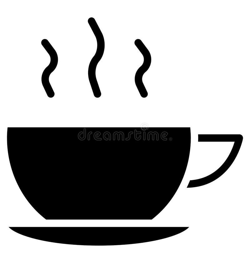 Icono aislado té caliente del vector que puede ser modificado o corregir fácilmente en cualquier icono aislado té caliente del ve ilustración del vector
