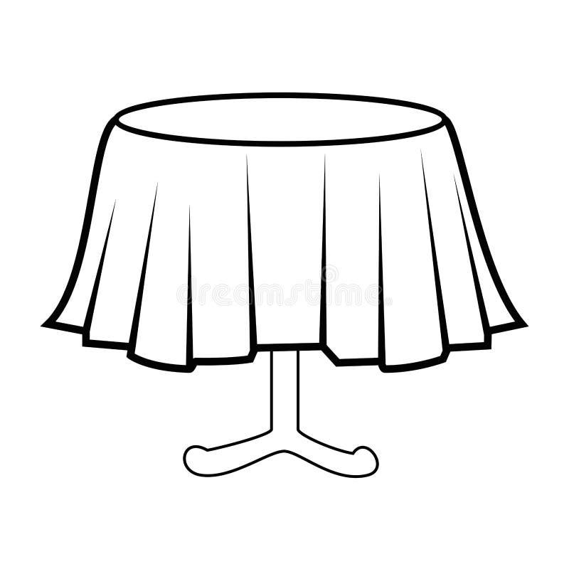Icono aislado tabla del restaurante ilustración del vector