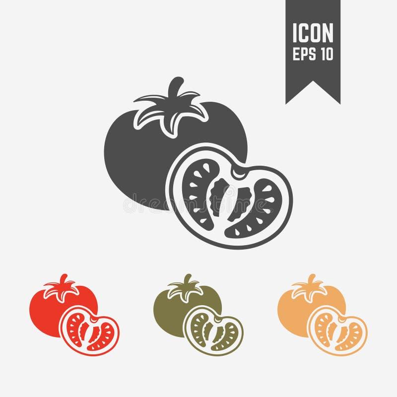 Icono aislado tomate de la silueta del vector ilustración del vector