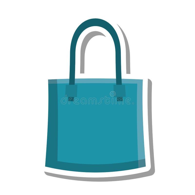 Icono aislado transporte del bolso de la tela stock de ilustración