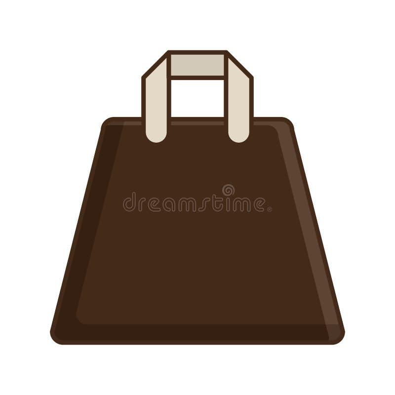Icono aislado transporte del bolso de la tela ilustración del vector