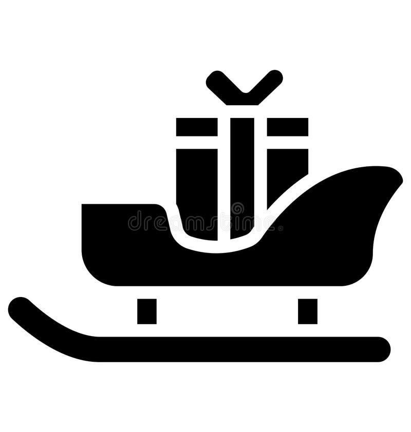 Icono aislado trineo del vector que puede ser modificado o corregir fácilmente en cualquier icono aislado trineo del vector del e stock de ilustración