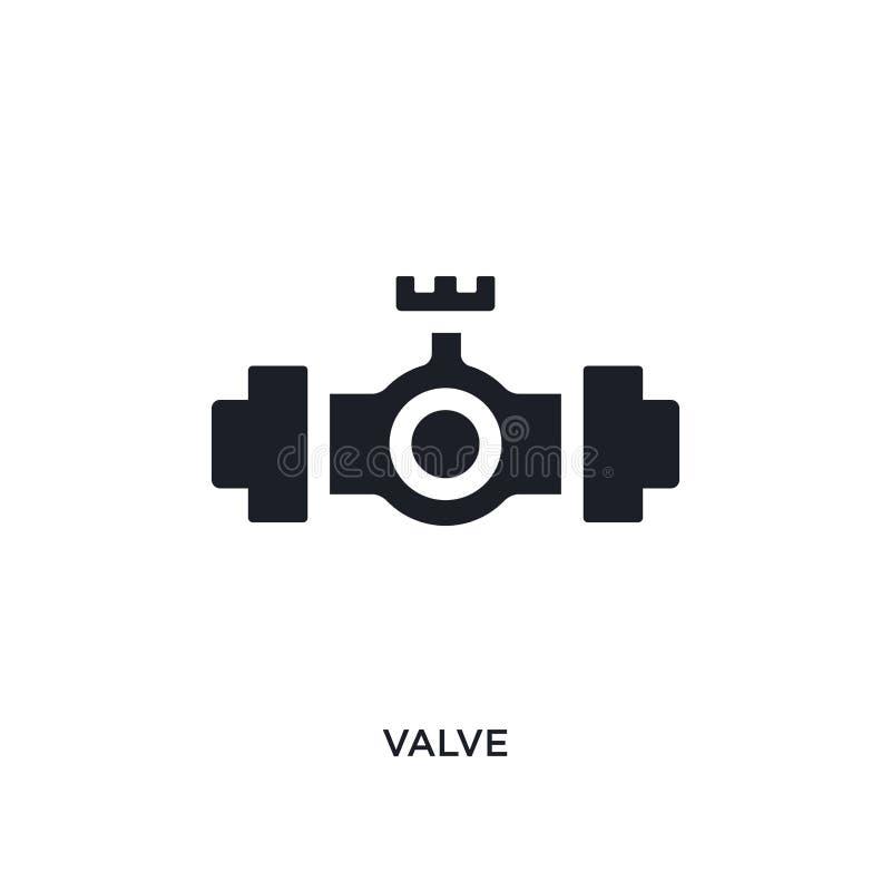 icono aislado válvula negra del vector ejemplo simple del elemento de iconos del vector del concepto de la industria símbolo edit libre illustration