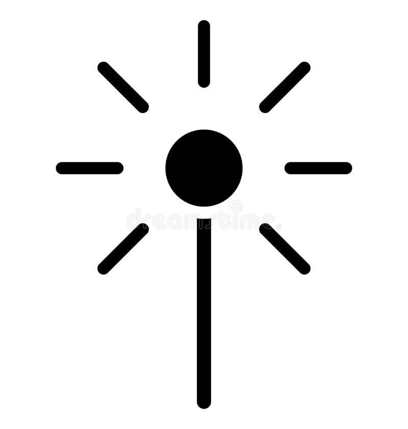 Icono aislado vara mágica del vector que puede ser modificado o corregir fácilmente en cualquier icono aislado vara mágica del ve stock de ilustración
