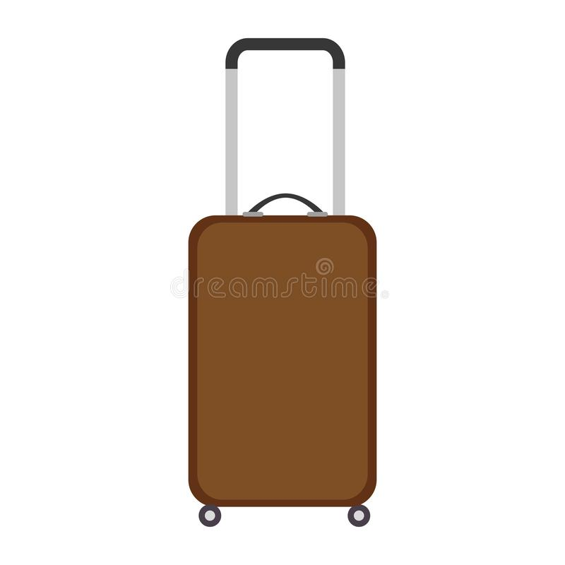 Icono aislado viaje de la maleta stock de ilustración